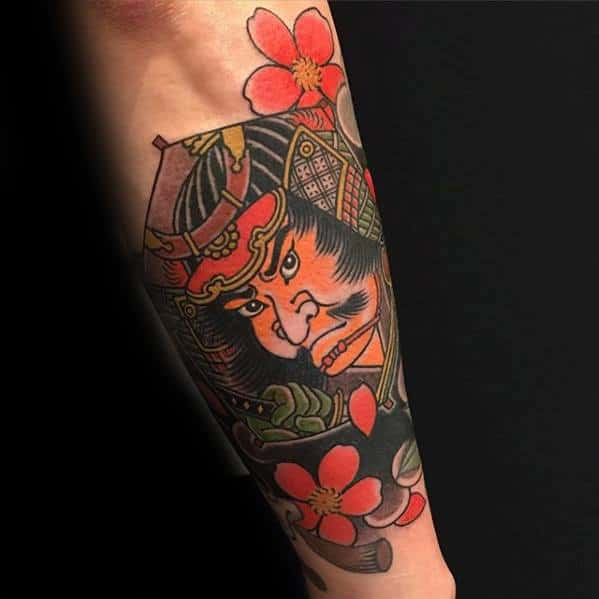Japanese Forearm Gentleman With Kite Tattoo
