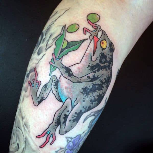 Japanese Frog Themed Tattoo Ideas For Men