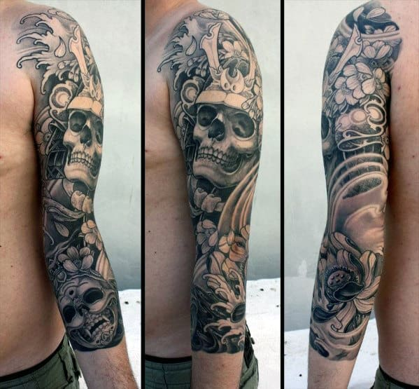 40 Japanese Skull Tattoo Designs For Men - Cool Cranium ...
