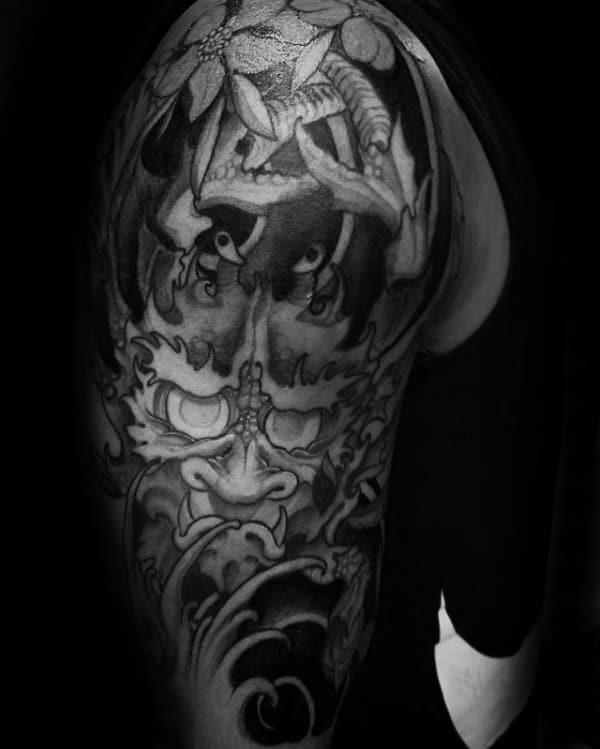 Japanese Male Crab Half Sleeve Tattoo Designs