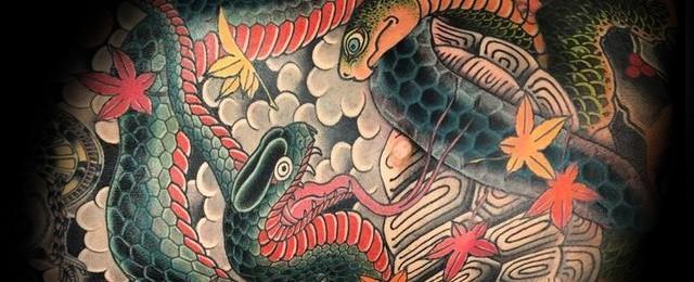 Japanese Snake Tattoo Design For Men