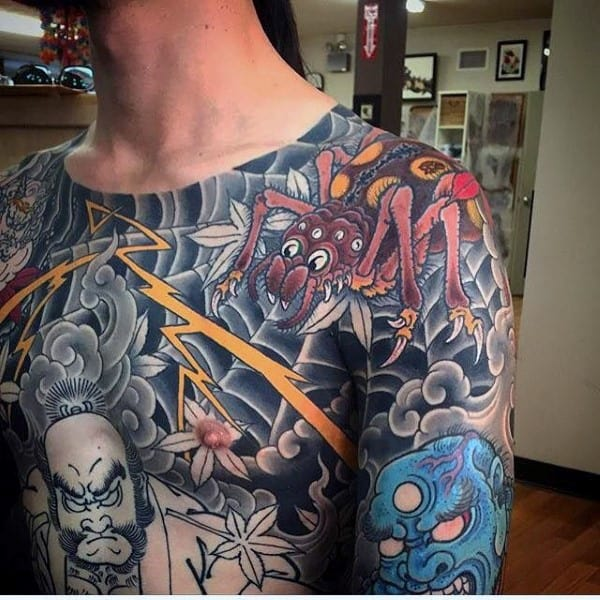 Japanese Style Tattoos For Men On Chest