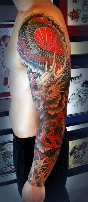 Japanese Tattoo On Men's Back