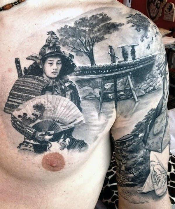 japanese-tattoo-samurai-on-mens-chest