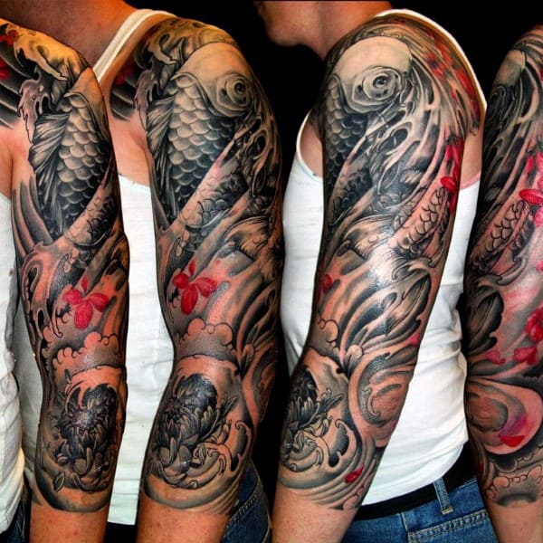 50 japanese tattoos for men masculine motifs. Black Bedroom Furniture Sets. Home Design Ideas