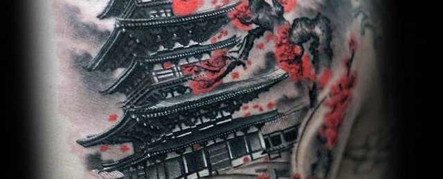 50 Japanese Temple Tattoo Designs For Men – Buddhist Ink Ideas