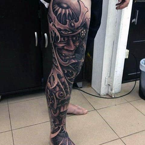 Japanese Thigh Sleeve Tattoos For Mens Legs