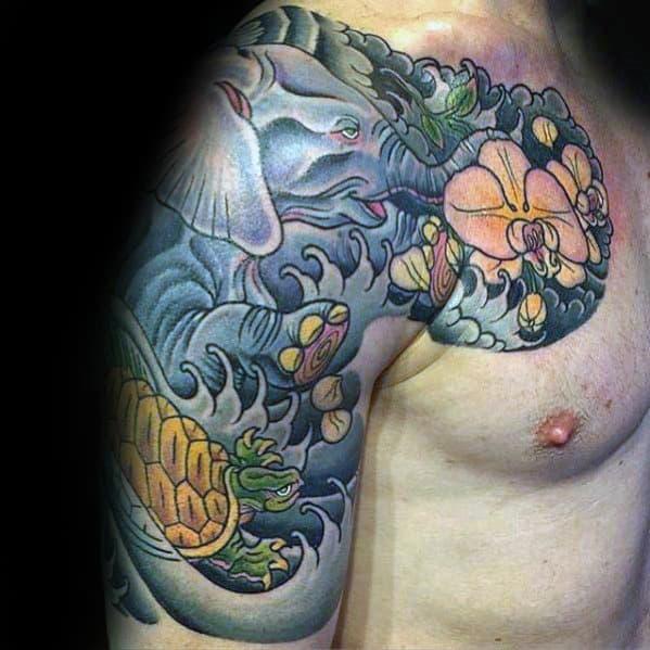Japanese Turtle Tattoo Ideas For Men