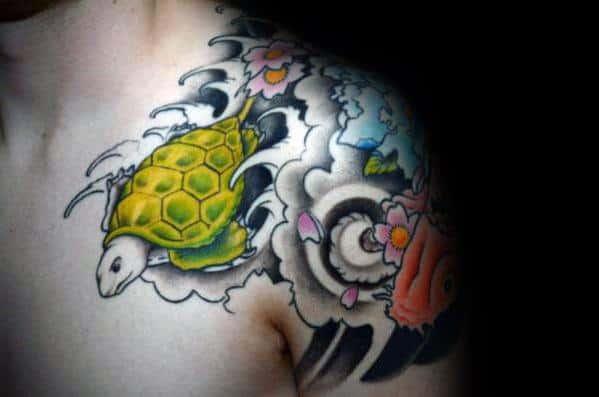 Japanese Turtle Tattoo Inspiration For Men