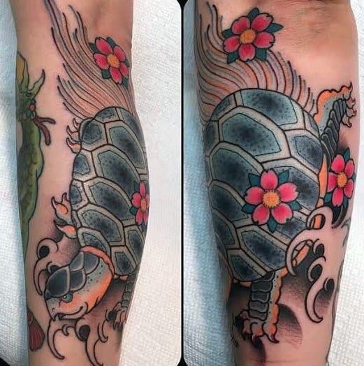 Japanese Turtle Tattoos For Men