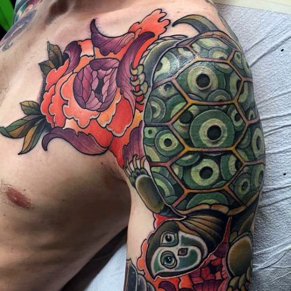 Japanese Turtle Themed Tattoo Ideas For Men