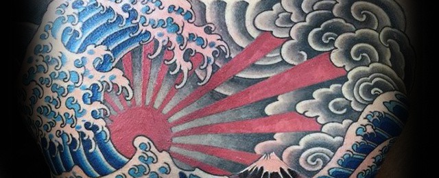 Japanese Wave Tattoo Designs For Men