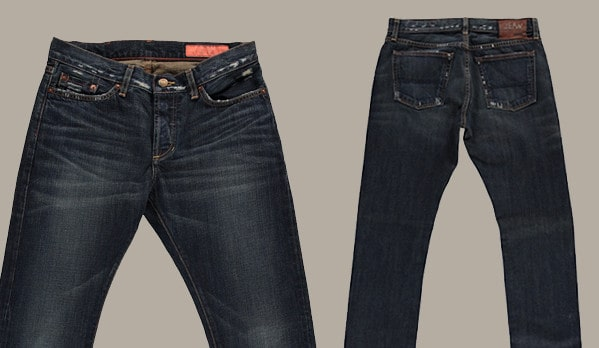 Jean Shop NYC Dark Abrasion Jeans For Men