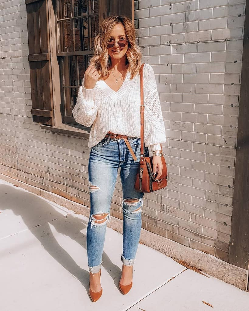 Jeans Jumper Edgy Outfit