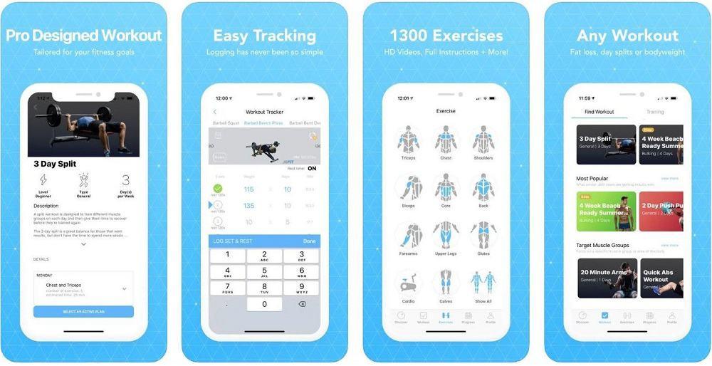 jefit workout app for men ios screenshot