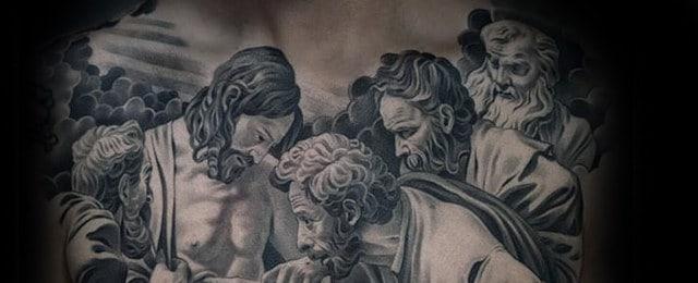 Jesus Chest Tattoo Designs For Men