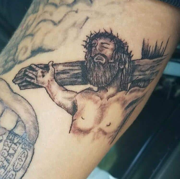 jesus cross tattoo fail
