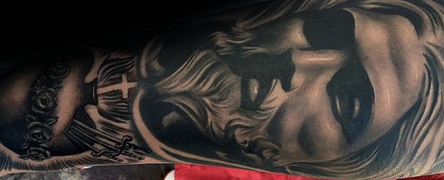 Jesus Forearm Tattoo Designs For Men