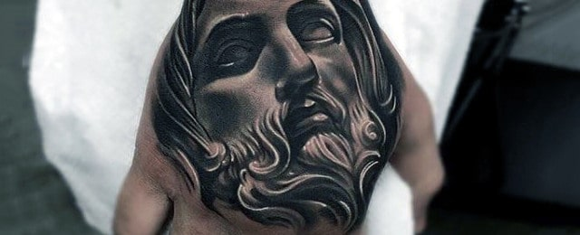 Jesus Hand Tattoo Designs For Men