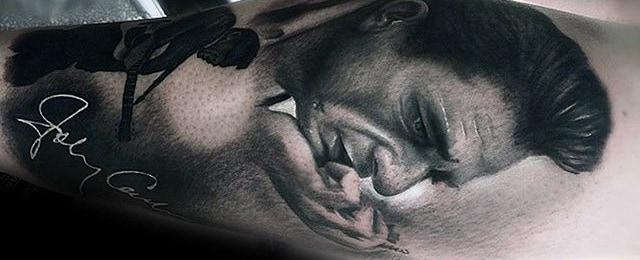 Johnny Cash Tattoo Designs For Men