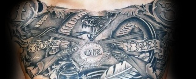Join Or Die Tattoo Designs For Men