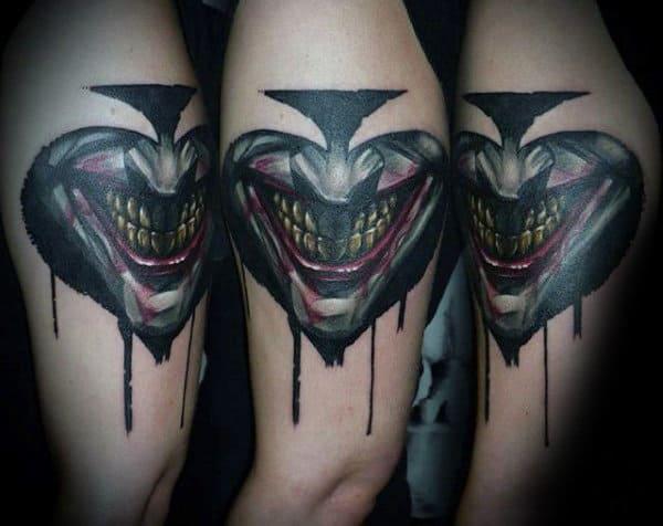 Joker Spade Mens Cool Arm Tattoo