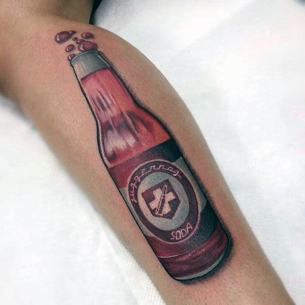 Juggernog Bottle Video Game Call Of Duty Mens Tattoos