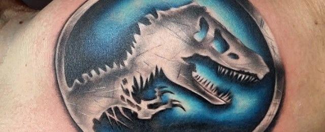 Jurassic Park Tattoo Designs For Men