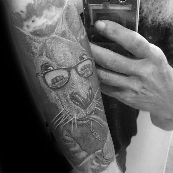 Kangaroo Tattoo Forearm Sleeve Design Ideas For Males