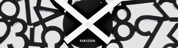 Karlsson Wall Clock Mixed Numbers