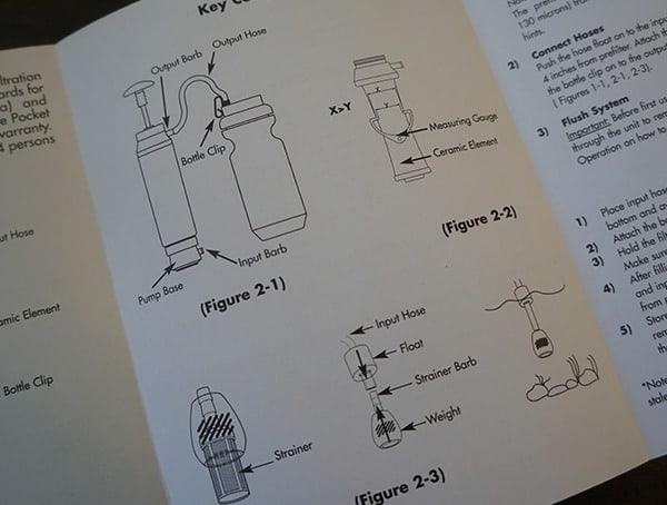 Katadyn Pocket Instructions Booklet