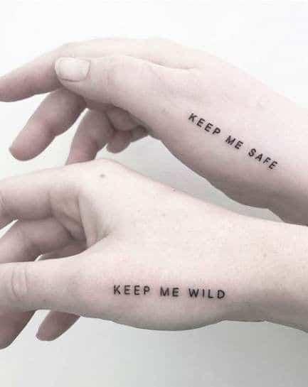 Keep Me Safe Friendship Tattoo