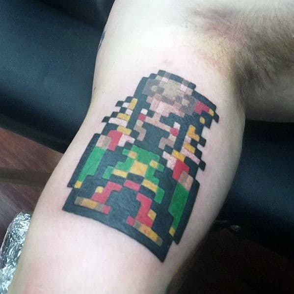 kefka final fantasy mens inner arm bicep tattoo