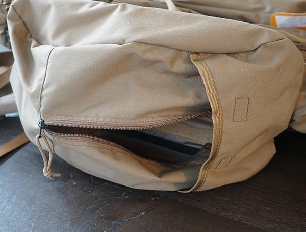 Kelty Eagle 7850 Backpack Side Pocket Unzipped Open