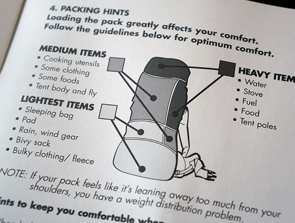 Kelty Eagle Backpack Packing Hints For Light Medium And Heavy Items