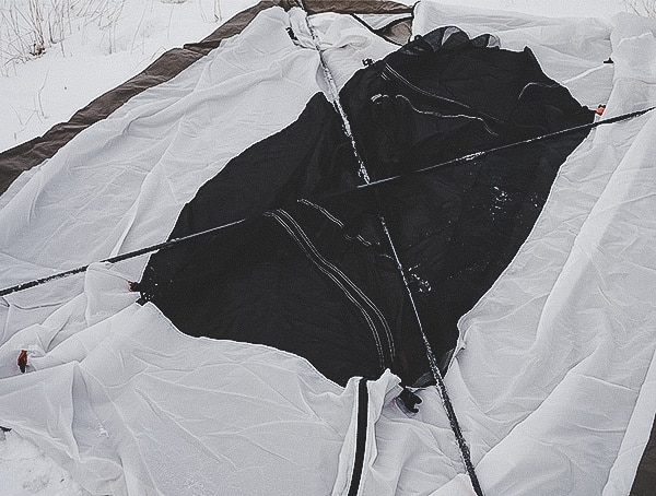 Kelty Outfitter Pro 3 Tent Outdoor Review Crossing Poles In X Pattern