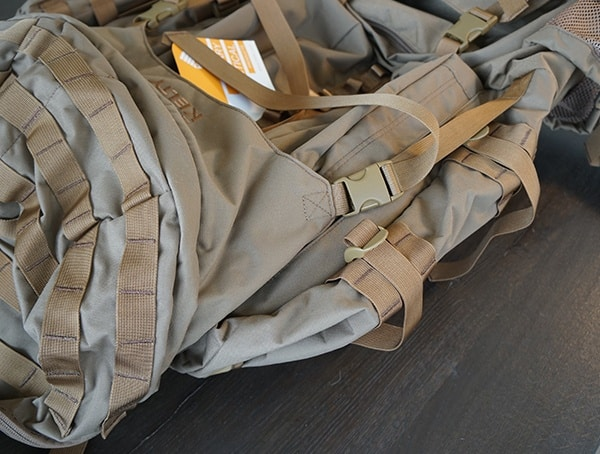 Kelty Tactical Eagle 7850 Backpack Coyote Brown Side Pouch Remvoed