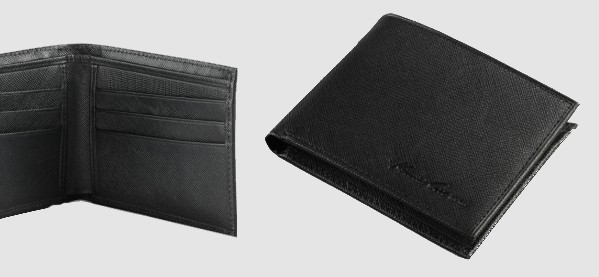 J FOLD Credit Card Case Hand Stained Leather Men Wallet Slim Fold Billfold Gift
