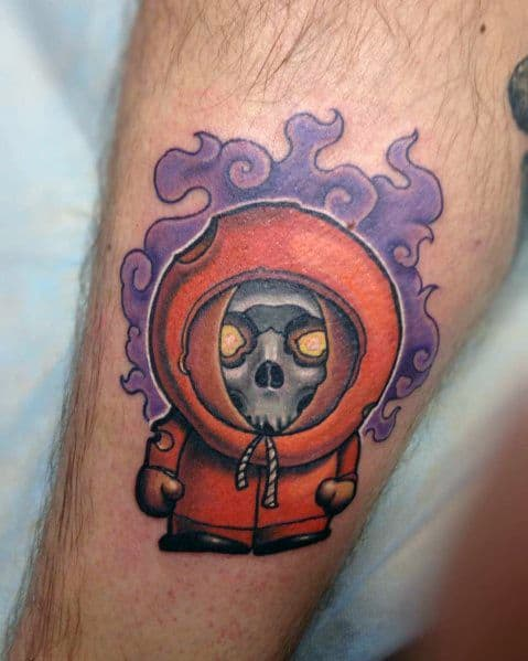 Kenny Zombie Themed Awesome South Park Tattoos For Men