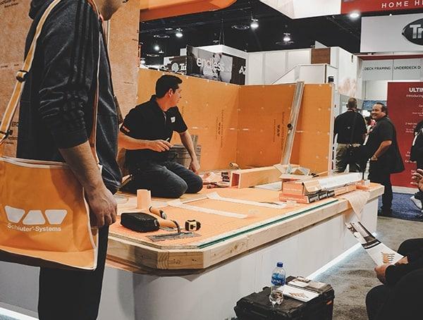 Kerdi Booth 2019 Nahb Show Las Vegas Kerdi Board And Membrane Installation