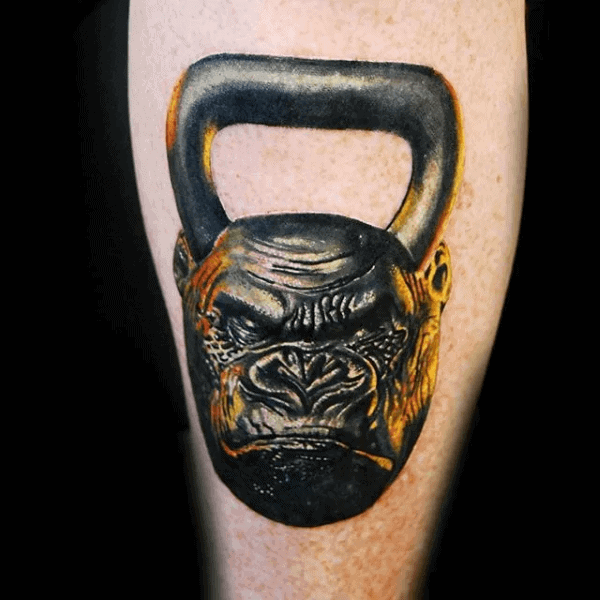 Kettle Ball Gorilla Masculino Fitness Pierna Tatuajes