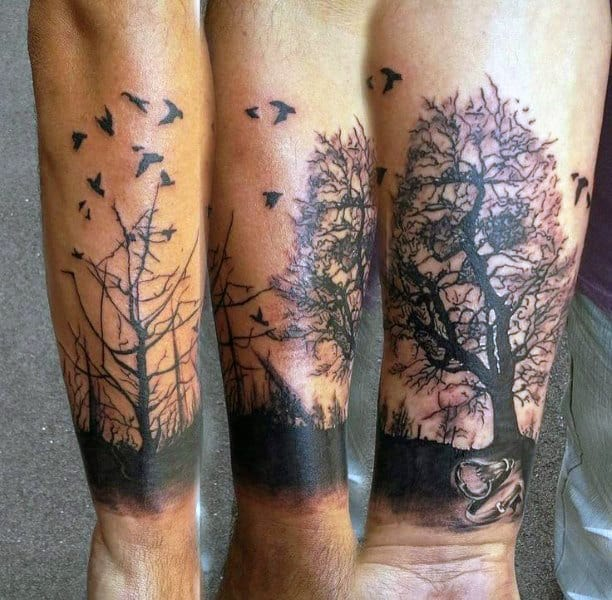 Key And Locket Male Tattoo On Wrist