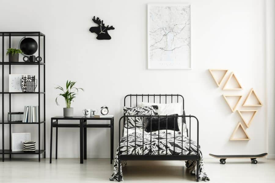 kids and teens black and white bedroom theme 2