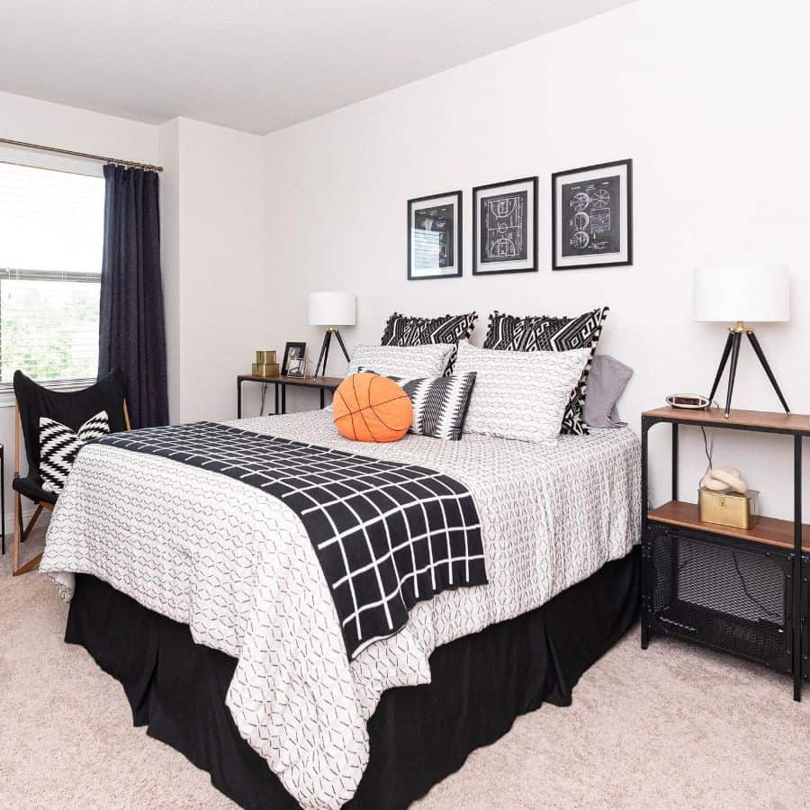 kids and teens black and white bedroom theme thesensiblystyledhome