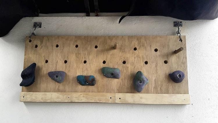 Kids Climb Wall Misc Pegboard Ideas Alan Wers