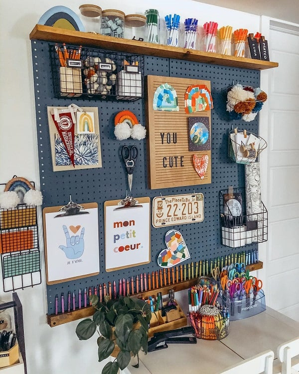 Kids Room Decor Art Room Pegboard Ideas Creativekidsplay
