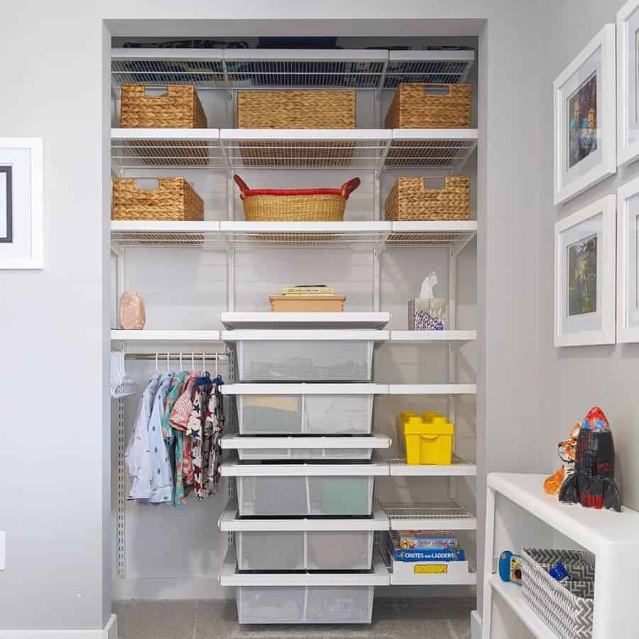 reach-in closet bedroom closet ideas