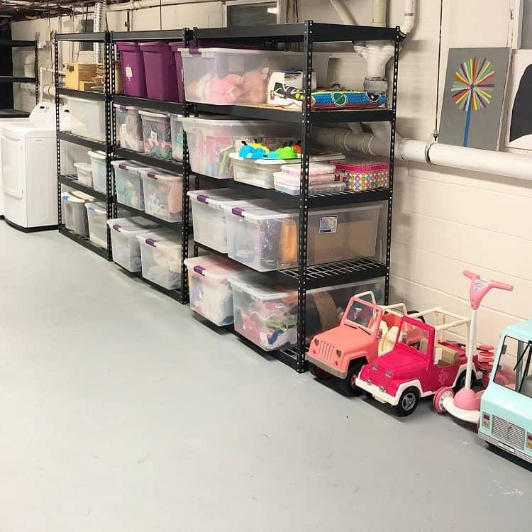 Kids Shelf Basement Storage