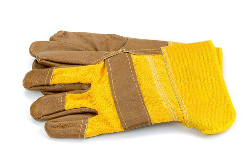 Kinco International 2035 Unlined Foreman Synthetic Leather Palm Work Gloves For Men With Rubber Knuckle Protectors