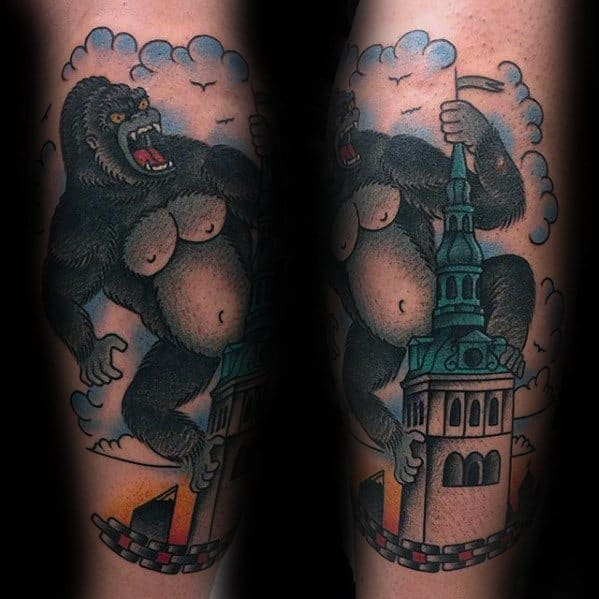 King Kong Male Tattoos